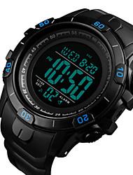 Недорогие -SKMEI Муж. Нарядные часы Цифровой силиконовый Черный / Цвет клевера 30 m Защита от влаги Календарь Секундомер Цифровой На открытом воздухе - Зеленый Синий Золотистый Два года Срок службы батареи