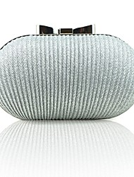 cheap -Women's Embossed Silk Evening Bag Solid Color Black / Champagne / Gold / Fall & Winter