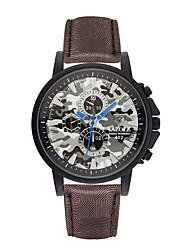 cheap -Yazole Multicolor Leather Watch Camouflage Color Design Men's watch