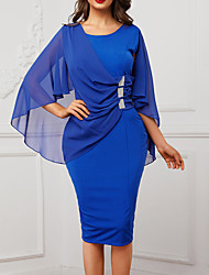 cheap -2019 New Arrival Dresses Women's Slim Sheath Dress Elbise Vestidos Robe Femme - Solid Colored Summer Purple Wine Royal Blue XL XXL XXXL