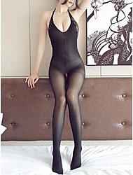 cheap -Women's Teddy / Suits Nightwear - Mesh Solid Colored Black Beige L XL XXL