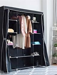 Недорогие -черный 60-дюймовый шкаф-гардероб портативный органайзер для хранения одежды