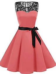 cheap -Women's Shirt Dress Red Blushing Pink Beige XL XXL XXXL