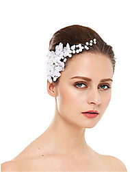 cheap -Imitation Pearl / Rhinestone Hair Combs / Headdress with Rhinestone / Imitation Pearl / Flower 1 Piece Wedding Headpiece