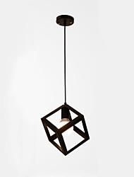 cheap -1-Light 22 cm Creative Pendant Light Metal Geometrical Electroplated Retro / Country 110-120V / 220-240V