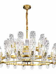 cheap -22 Bulbs ZHISHU 100 cm Crystal / New Design Chandelier Crystal Crystal / Empire Electroplated Artistic / Chic & Modern 110-120V / 220-240V