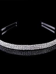 cheap -Alloy Headdress with Crystals / Rhinestones 1 Piece Wedding / Daily Wear Headpiece