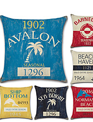 cheap -1 pcs Linen Pillow Cover, 3D Contemporary Classic Fashion Throw Pillow