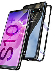 cheap -Case For Samsung Galaxy Galaxy S10 / Galaxy S10 Plus Magnetic Full Body Cases Transparent Hard Metal