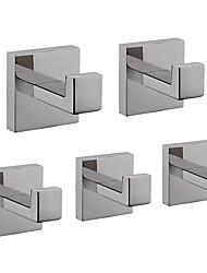 cheap -Robe Hook New Design / Creative Contemporary / Modern Metal 5pcs - Bathroom Wall Mounted