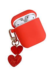 Недорогие -сплошной цвет любовь чехол airpods кулон ящик для хранения apple airpods чехол для наушников