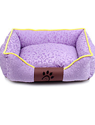cheap -Dog Rabbits Cat Mattress Pad Bed Beds Bed Blankets Soft Washable Elastic Pet Mats & Pads Fabric Classic Fashion Purple Orange Green