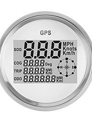cheap -90MM GPS Waterproof Speedometer Odometer Gauge Digital White For Car Tru ck Motorcycle