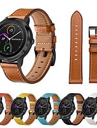 cheap -Smart Watch Band for Garmin 1 pcs Leather Loop Genuine Leather Replacement  Wrist Strap for Vivoactive 3 Garmin Forerunner245 Garmin Venu Garmin Active Garmin Move