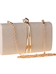 cheap -Women's PU Leather Evening Bag Wedding Bags Solid Color Black / Gold / Silver / Fall & Winter
