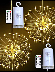 cheap -Firework Lights 180 LED Starburst Lights Copper Wire Twinkle Lights 8 Modes Battery Operated Fairy Lights with Remote Hanging Christmas Lights for Party Patio Bedroom Decoration 2Packs 1Pack
