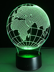 cheap -3D Globe LED Lamp 3D Illusion Lamp Night Light 7 Color Light Christmas Gift Birthday Party Supply for Kids and Home Decoration Geography Globe Toys with USB Cable