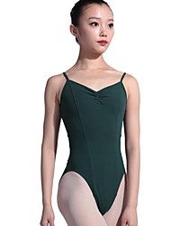 cheap -Ballet Leotards Women's Performance Cotton Split Joint Sleeveless Leotard / Onesie