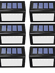 cheap -6pcs 1 W Solar Wall Light Waterproof / Solar / Decorative Warm White / Cold White 1.2 V Outdoor Lighting / Swimming pool / Courtyard 6 LED Beads