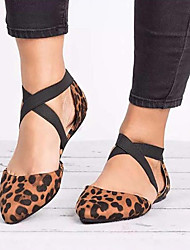 cheap -Women's Flats Flat Heel Synthetics Spring & Summer Black / Leopard / Beige