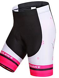 cheap -WOSAWE Women's Cycling Padded Shorts Bike Shorts Padded Shorts / Chamois Pants Windproof Breathable Quick Dry Sports Stripes Polyester Spandex Black / Pink Mountain Bike MTB Road Bike Cycling