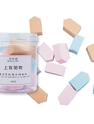 cheap -12 pcs Kits Can Be Used Wet & Dry Swellable Quadrate Mixed Material Concealer & Base Makeup Sponges Portable Soft washable Cosmetic Puff For Beauty & Spa Universal Nursing Sweet Fashion Daily Daily