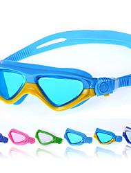 Недорогие -плавательные очки Дайвинг очки очки кейс Тренировки УФ-защита покрыло Удобный Для Подростки силикагель Поликарбонат Другое синий