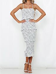 cheap -Women's Shift Dress White M L XL