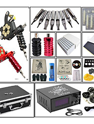 cheap -Professional Tattoo Kit Tattoo Machine - 2 pcs Tattoo Machines, Dynamics Adjustable / Adjustable Voltage / Kits Cast Iron # 2 cast iron machine liner & shader / Coil Tattoo Machine