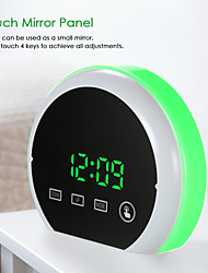 cheap -Digital Alarm Clock LED Touch Mirror Alarm Clock 12H/24H Display Adjustable RGB Colorful Lighting Alarm Clock Dual USB Ports