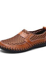 Недорогие -Муж. Комфортная обувь Эластичная ткань Лето Спортивные / На каждый день Мокасины и Свитер Для пешеходного туризма / Дышащая спортивная обувь Дышащий Черный / Зеленый / Синий / на открытом воздухе
