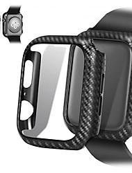 Недорогие -чехол для apple apple watch series 4/3/2/1 ультра тонкие линии из углеродного волокна pc чехол защитная рамка для apple watch серии 4