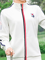 cheap -Women's Jacket Long Sleeve Golf Running Workout Athleisure Outdoor Autumn / Fall Spring Winter / Cotton / Stretchy / Breathable