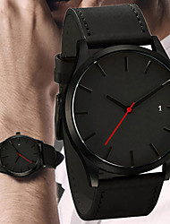 cheap -Men's Dress Watch Quartz Modern Style Stylish Leather Black / Brown 30 m Water Resistant / Waterproof Creative Casual Watch Analog Casual Fashion - Black Brown One Year Battery Life