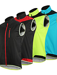 cheap -Arsuxeo Men's Cycling Jacket Bike Vest / Gilet Waterproof Windproof Breathable Sports Polyester Elastane Black / Black / Red / Yellow Mountain Bike MTB Road Bike Cycling Clothing Apparel Relaxed Fit