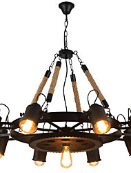 cheap -9-Light 85 cm Creative Chandelier Metal Industrial Painted Finishes Retro 110-120V / 220-240V
