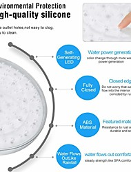 cheap -8 Inch 20cm * 20cm 3 Colors Changing Water Powered Rain Led Shower Head Without Shower Arm Bathroom Temerpature Automatic