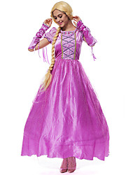 cheap -Princess Movie / TV Theme Costumes Chess Belle Dress Cosplay Costume Masquerade Costume Adults' Women's Party / Evening Halloween Christmas Halloween Carnival Festival / Holiday Pleuche Cotton Purple