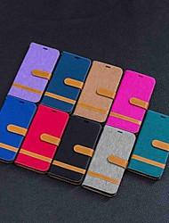 Недорогие -Кейс для Назначение Motorola MOTO G6 / Мото G5 Plus / Moto G5 Кошелек / Бумажник для карт / со стендом Чехол Плитка Твердый текстильный / Мото G4 Plus
