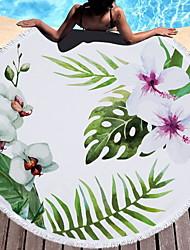 cheap -Superior Quality Beach Towel, Floral / Botanical 100% Micro Fiber 1 pcs