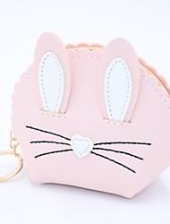 cheap -Women's / Girls' Zipper Leather / PU(Polyurethane) / PU Coin Purse Embroidery Black / Blushing Pink / Fuchsia / Fall & Winter