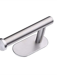 cheap -Toilet Paper Holder Self-adhesive Modern Stainless Steel 1pc - Bathroom Wall Mounted