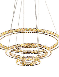 cheap -3 Rings Fashion Modern Newest LED Crystal Chandelier Pendant Light Hanging Fixtures for Dining Living Room Hotel Home 110-120V /220-240V