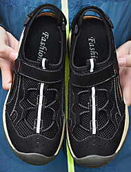 cheap -Men's Hiking Shoes Breathable Comfortable Travel Walking Summer Black Brown Khaki