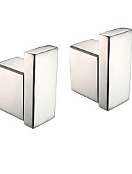 cheap -Robe Hook New Design / Creative Contemporary / Modern Metal 2pcs - Bathroom Wall Mounted