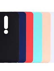 cheap -Case For Nokia Nokia 7 Plus / Nokia 6 / Nokia 6 2018 Shockproof / Frosted Back Cover Solid Colored Soft TPU