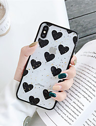 cheap -Case For Apple iPhone XS / iPhone XR / iPhone XS Max Transparent Back Cover Heart Soft TPU