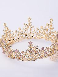 cheap -Alloy Tiaras / Headpiece with Metal / Crystals / Rhinestones 1 Piece Wedding / Birthday Headpiece