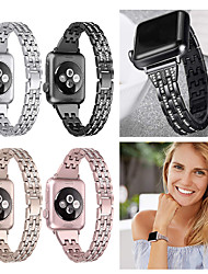 cheap -Watch Band For Apple Watch 40mm 44mm 38mm 42mm Women Diamond Band for Apple Watch Series 4 3 2 1 iWatch Bracelet Stainless Steel Strap Wristband