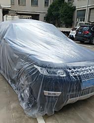 Недорогие -3 размер пленки ldpe открытый прозрачный одноразовый полный автомобильный чехол от дождя / пыли гараж универсальный временный